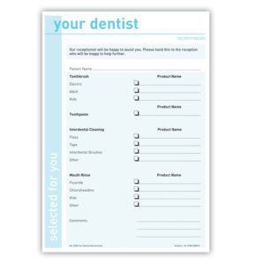 Your Dentist Recommends Form