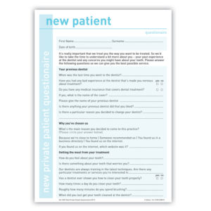 New Private Patient Welcome Questionnaire