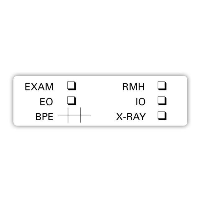 Exam Check Sticker
