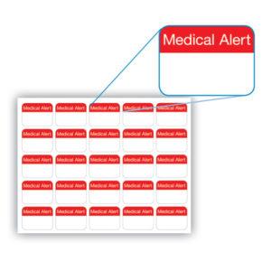 Medical Alert Stickers